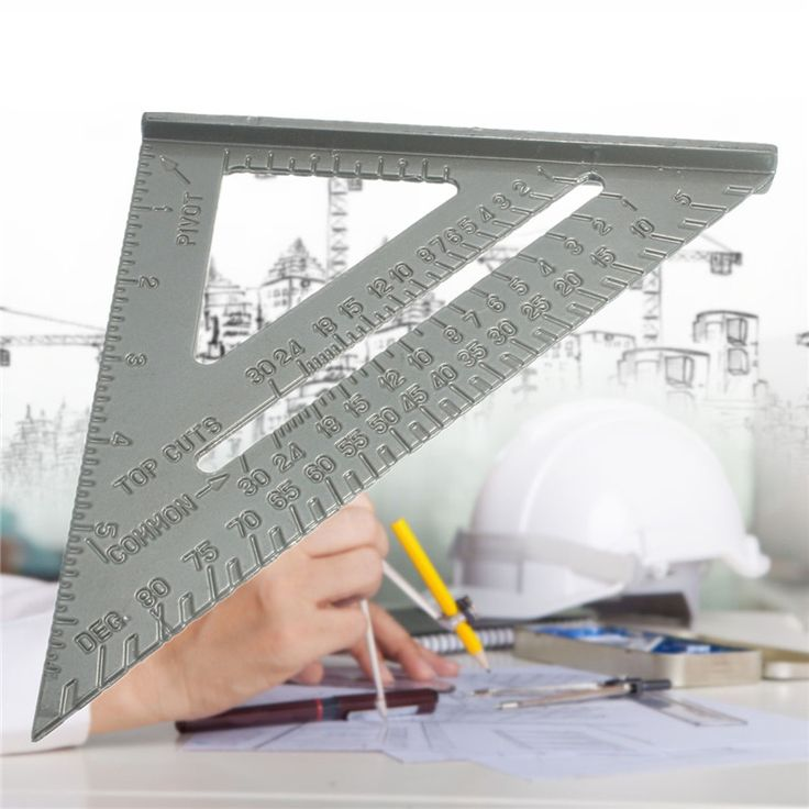 6inch New Aluminium Alloy Square Measuring Tool Use As Protractor Miter Framing Square