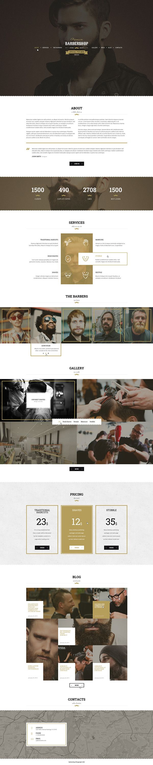 Barbershop - One Page Barbers Theme on Behance