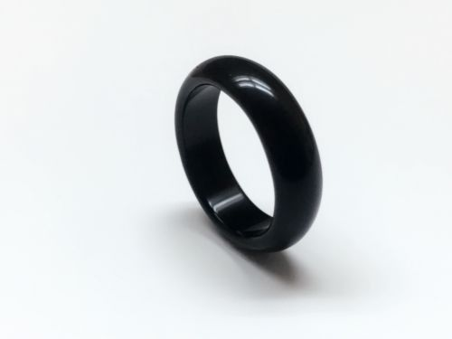 Description  Instructions: Please leave me a note or sent me a message to let me know what ring size do you need  Ring size available: 6,7,8  condition: NEW  Material: obsidian rock  Width: 5mm  Ring