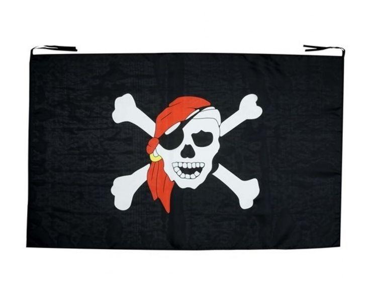 Stort pirat banner flag fra sjovogkreativ.dk