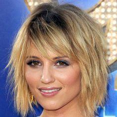 Tendance actuelle : coiffure mi long frange 2014
