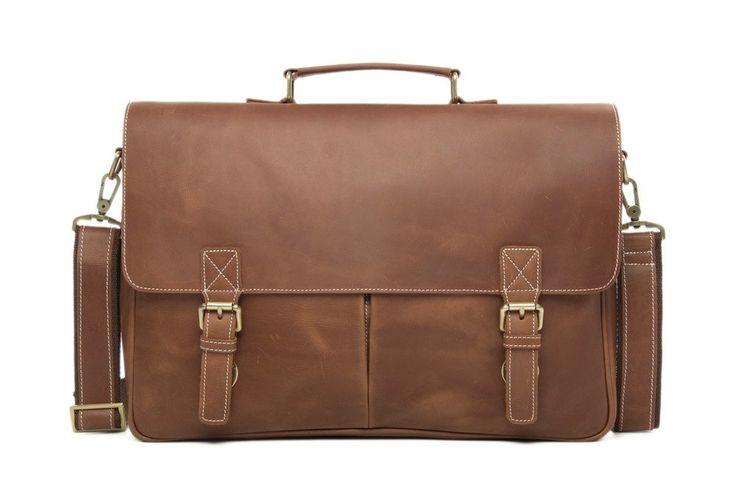Simply awesome Handmade Top Grain Brown Tan  Real Leather Messenger Bag Laptop Bag  Men /Women Business Briefcase, Shoulder Bag, Men Handbag, Women Handbag. Find it in my shop ✨ https://www.etsy.com/listing/449419152/handmade-top-grain-brown-tan-real?utm_campaign=crowdfire&utm_content=crowdfire&utm_medium=social&utm_source=pinterest