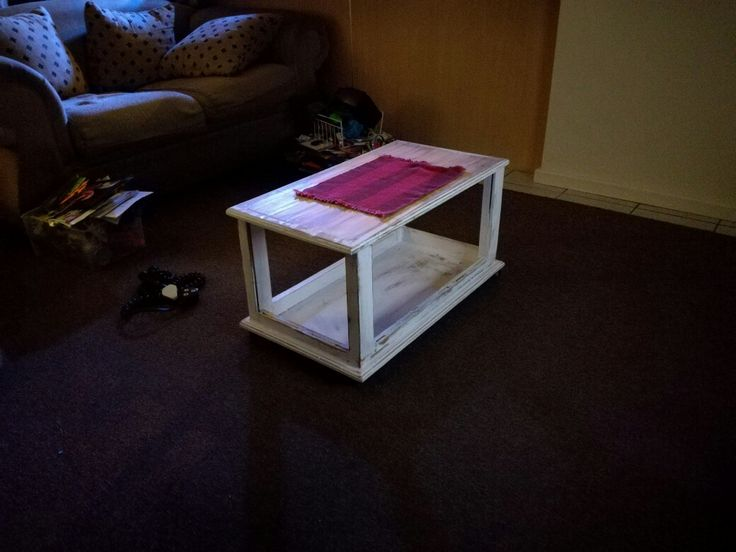 Repurposed chest. Now coffee table with storage.