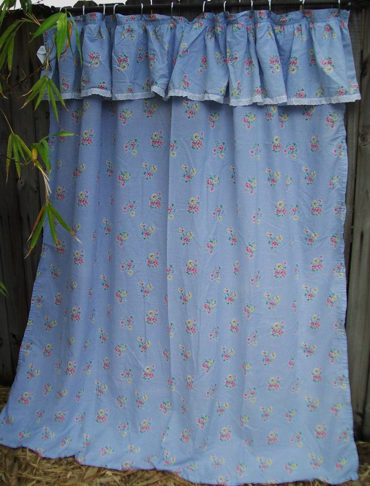 how to make a shower curtain with attached valance