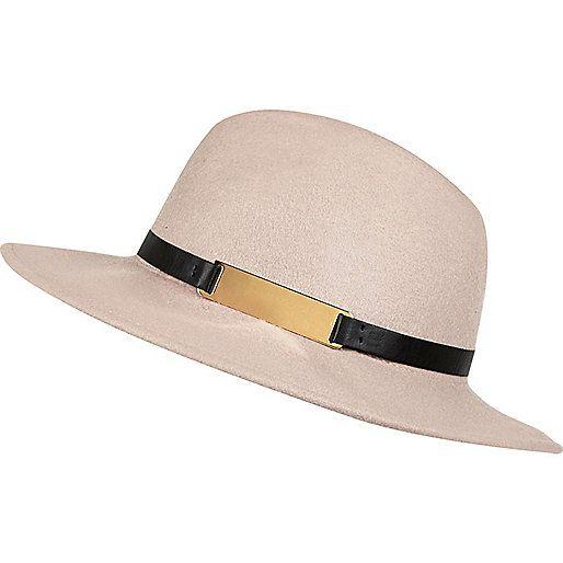 Chapeau fedora beige clair - Chapeaux - Accessoires - femme