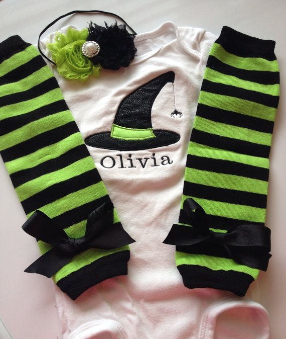 Baby Girl Halloween Outfit personalized baby girl by AboutASprout, $43.00 GOTTA HAVE THIS!!!