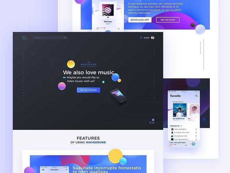 Music app website by Maciej Kałaska http://bit.ly/2rHzKNN  #design #uzersco #ui #ux #inspiration #web #dribbble #behance #website #brand #www #uidesign #uxdesign #webdesign #designer #graphicdesign #entrepreneur #psd #template #photoshop #colors #adobe #hustler #concept #design #app #dashboard #landingpage #free