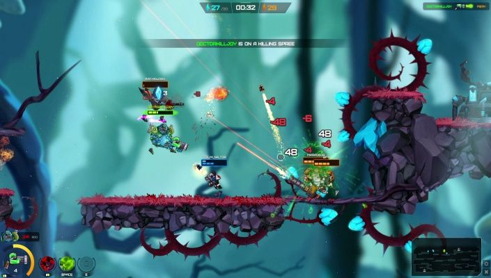 Onraid is a 2D Free-to-play Multiplayer Shooter Game where you are free to develop your own play style and Tactics