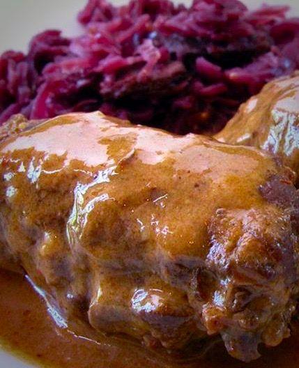 German Beef Roll (Rinrourade und Rotkohl)