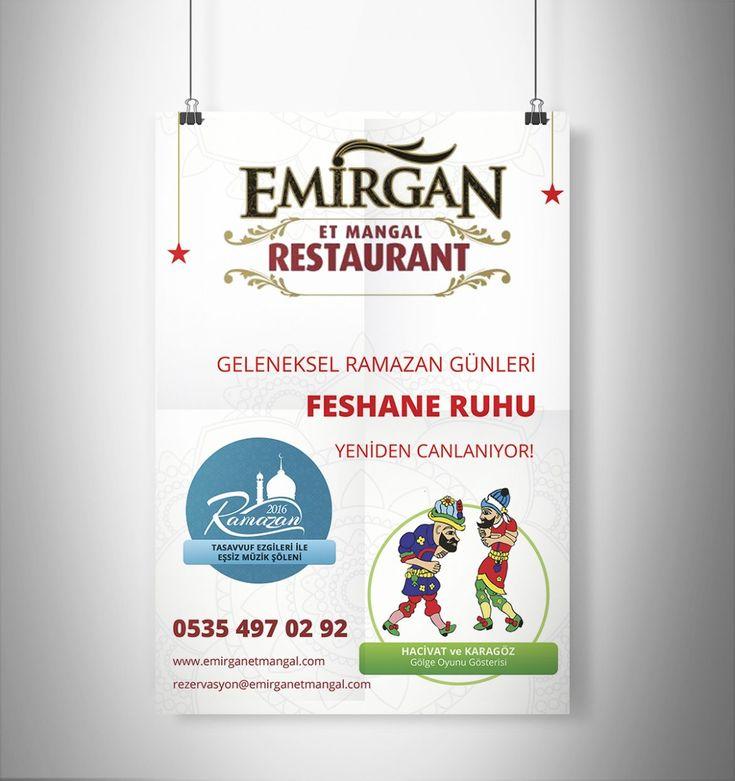 mersin emirgan et mangal ramazan şenlikleri afiş tasarımı