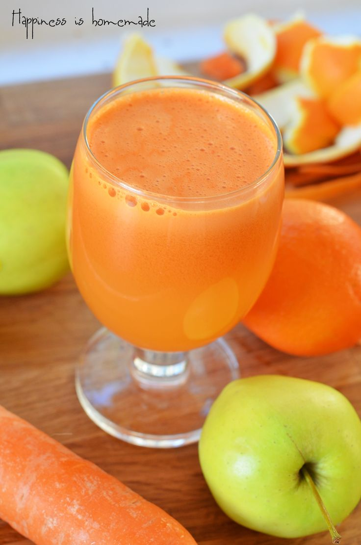 Immune system booster - carrot, orange, ginger and apple juice | Happiness is homemade