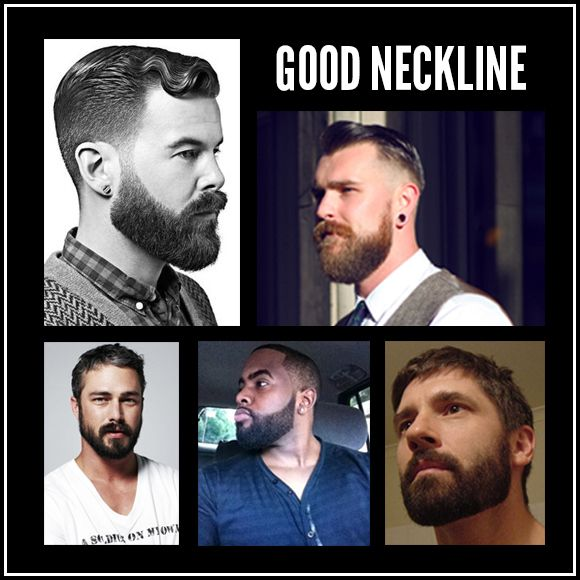 Trimming a beard neckline: good vs bad