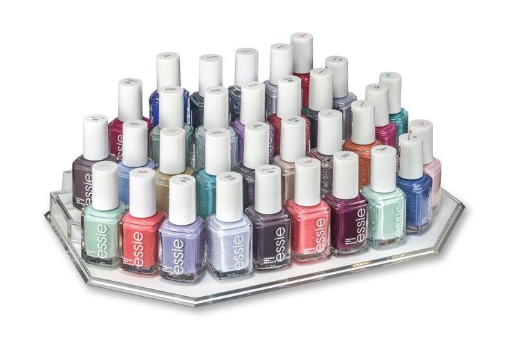 Acrylic Vanity Display (Nail Polish & Foundation) Organizer & Beauty Care Holder Provides Up To 36 Space Storage
