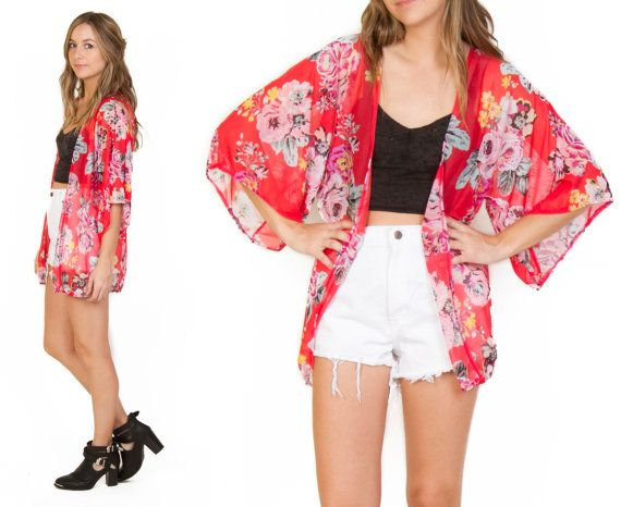 LoveMelrose.com From Harry & Molly | Floral Kimono Cardigan ...