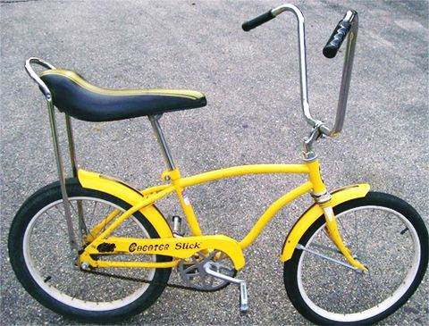 {Banana seat bike- we totally used to own one these, and oh the memories, baby.}
