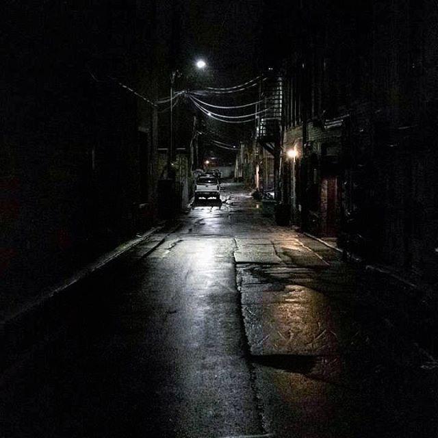 night night rain reflection dark creepy alone fear