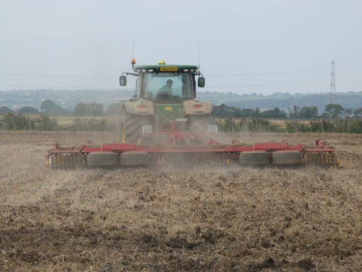 It's harvest season on farms all over the UK and the farm is very busy at the moment! Earlier this week, Paul was busy preparing one of the arable fields to go to grass for the sheep to graze on.
