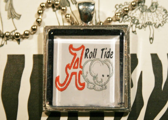 University of Alabama Roll Tide Elephant Glass Tile by BAMACHARMS, $15.00: Tide Rolls, Ideas, Glasses Tile, Alabama Rolls, Rolls Tide, Graduation Parties, Elephants Glasses, Glass Tiles, High Schools