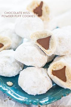 Chocolate Kiss Cookies - Holiday Cookie Exchange Recipes via Pretty My Party