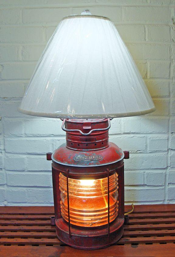 Nautical Table Lamp Re-purposed Ship's Masthead Light- Nautical Lamps & Lighting