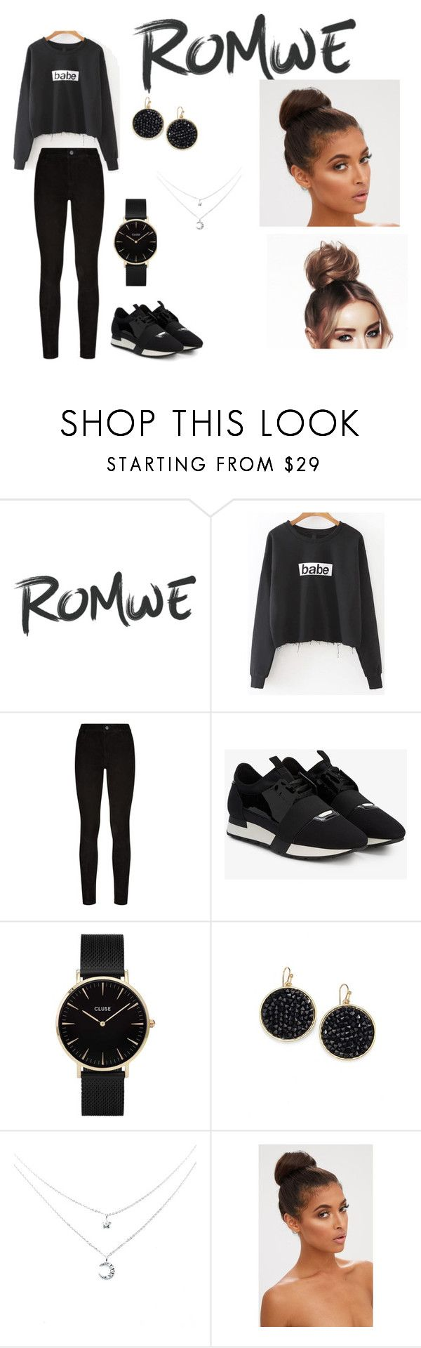 """""""rowne"""" by mariearisteau ❤ liked on Polyvore featuring Paige Denim, Balenciaga, CLUSE, ABS by Allen Schwartz and cute"""