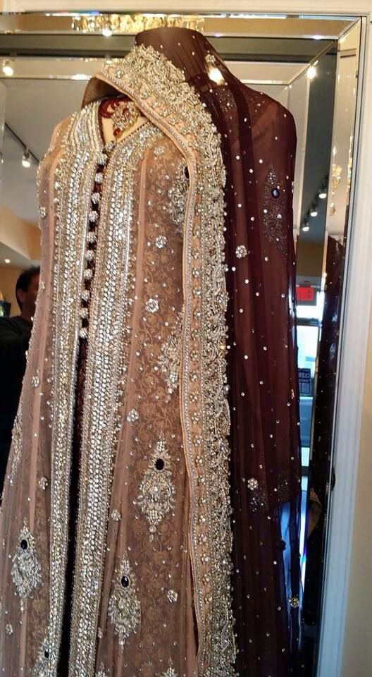 Gold and Burgundy Pakistani suit