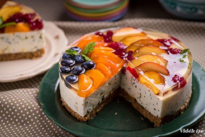 Mentás, fehér csokoládés gyümölcstorta - MindenegybenBlog