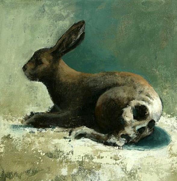 rabbit skull.  Samuli Heimonen.