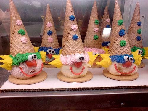 Things that make me happy...Baskin Robbins clown cones
