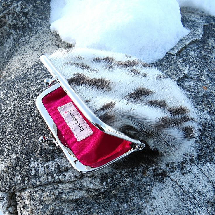 Sealskin Framed Coin Purse :: Silk Dupioni Lining :: By tundraberry