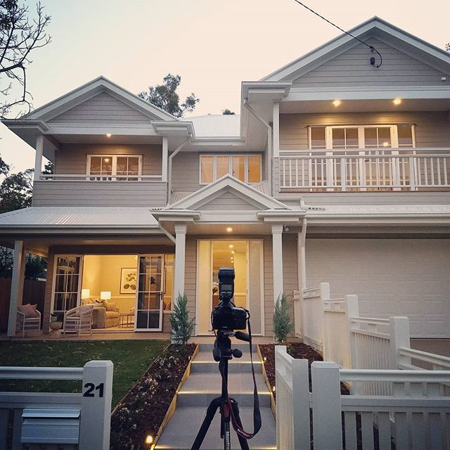 Tonight's dusk shoot was amazing! This stunning Hamptons inspired home is sure to sell quickly. #photosbyrealscope #realestate #realestatephotography #brisbane #hamptons