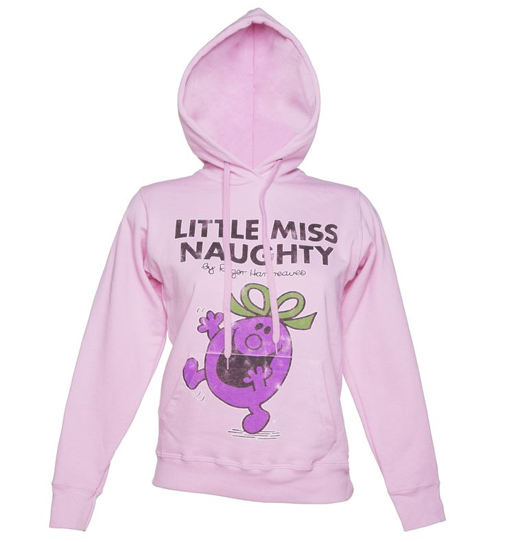 #TruffleShuffle #Womens #Little Miss #Naughty #Hoodie ##Show off your #cheeky side with this cute and cosy #Little Miss #Naughty #hoodie. In soft baby #pink, it #features a #distressed #print #taken from the #cover of #Roger #Hargreaves #classic kids book that we all grew up #with. The #second book in the #Little Miss #series, its star was #mischievous, #playful and #unashamedly #naughty so if that #sounds like you or #someone you know, this is a must have!