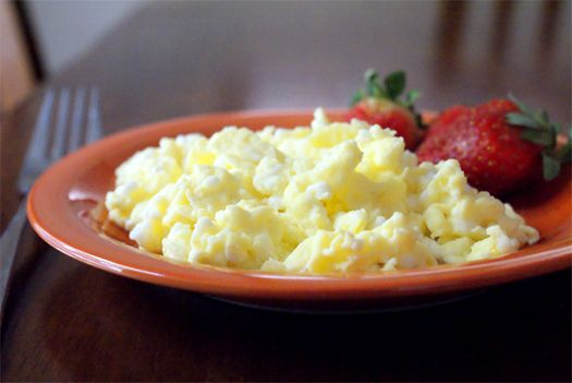 Cottage Cheese Scrambled Eggs - the most moist, delicious scrambled eggs EVER!