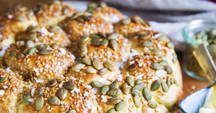 Brytbröd med pumpa och parmesan – recept
