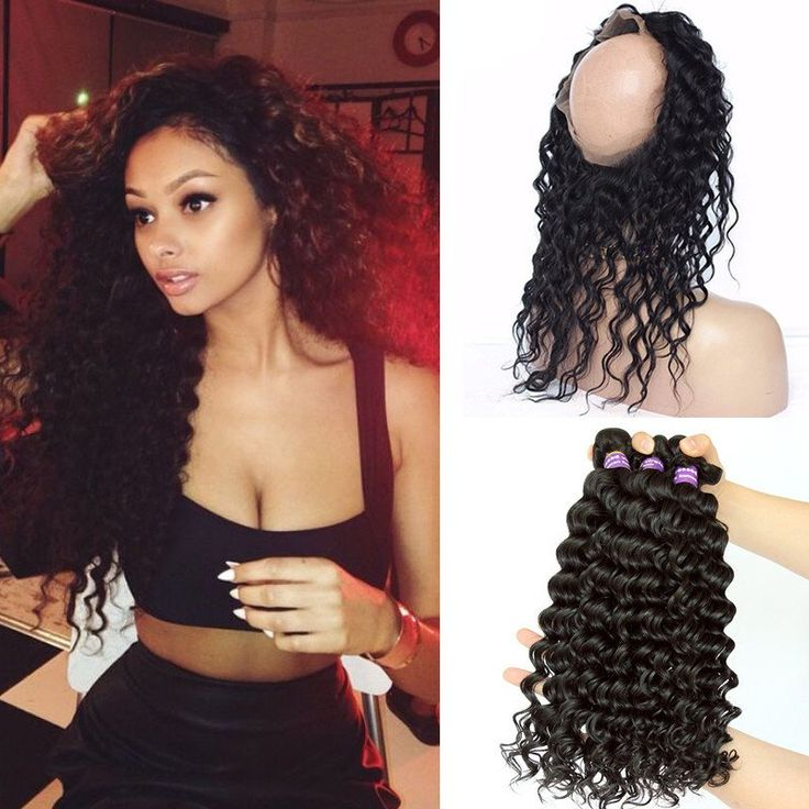 Brazilian Deep Wave With Closure 360 Lace Frontal With 3 Bundles This hair is virgin hair boutique