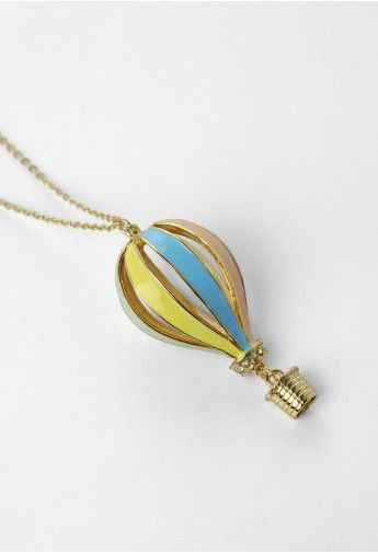 Colorful Fire Balloon Necklace