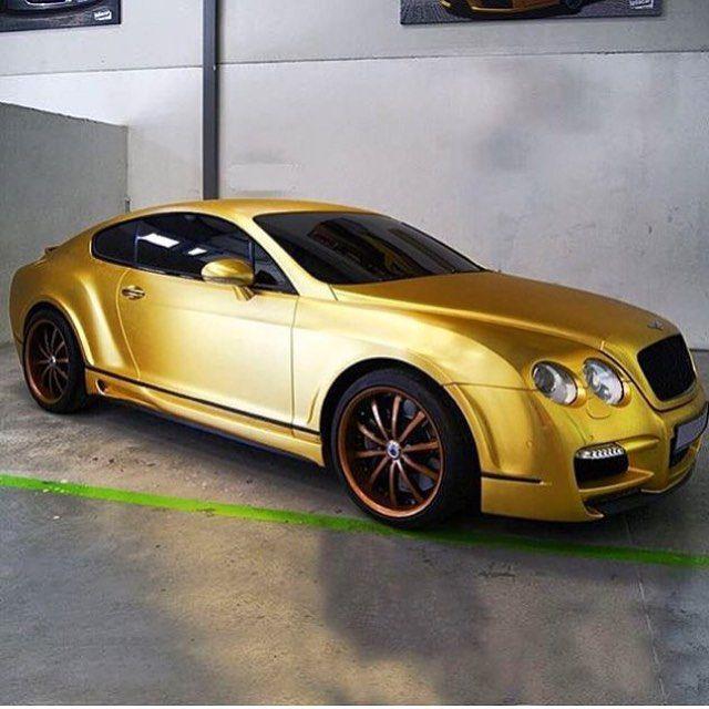 Gold Bentley