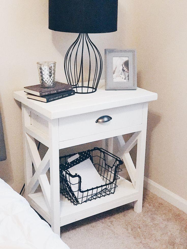 farmhouse style nightstands diy