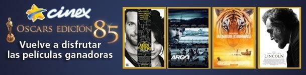 ¡Disfruta de las películas ganadoras del #Oscar2013 a Mejor Actriz (Jennifer Lawrence en Juegos del Destino), Mejor Película (Argo), Mejor Dirección (Ang Lee por Una Aventura Extraordinadia) y Mejor Actor (Daniel Day-Lewis por Lincoln)!