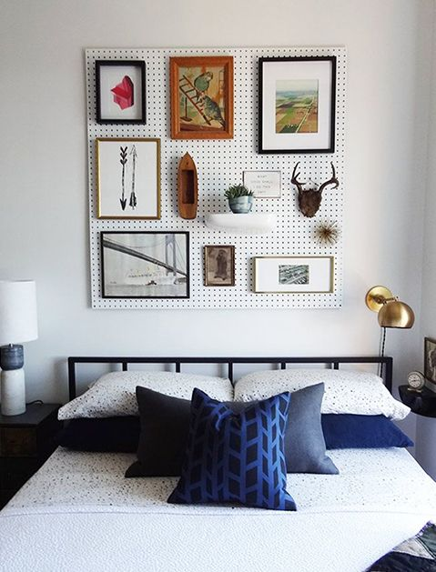 Reimagine the Pegboard! Great way to display a collection of small objects & rearrange to your heart's content! via @PureWow