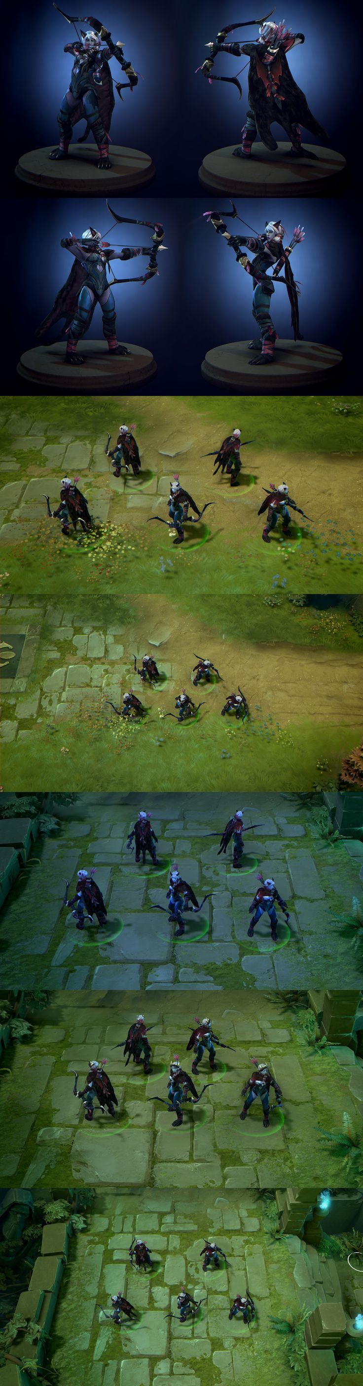 Dota2 Set: Gifts of the Shadowcat by polyphobia3d on deviantART
