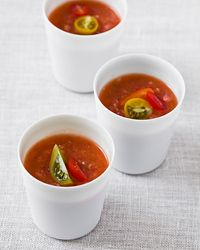 Teresa Barrenechea of New York City's Marichu makes this chunky version of #gazpacho, Spain's most popular soup.