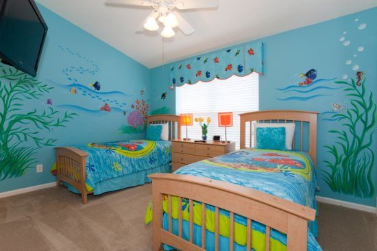 PP8104- Five Star Vacation Homes- Windsor Palms Resort: Finding Nemo Twin Bed Room