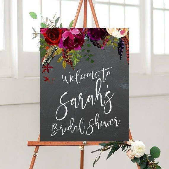 Custom Bridal Shower Sign, Bridal Shower Decor, Bridal Shower Sign, Printable Sign, Welcome Sign, Personalised Sign, digital Download