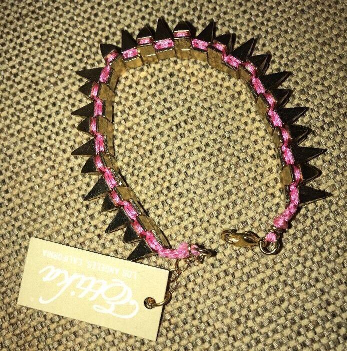 Ettika Double Spike Candy Friendship Bracelet Olive Celebrity Boutique Saks  | eBay