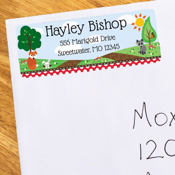 Woodland Birthday Personalized Address Labels (30)