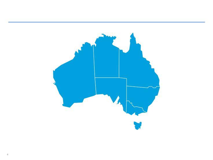 Mapas de Australia editables en ppt