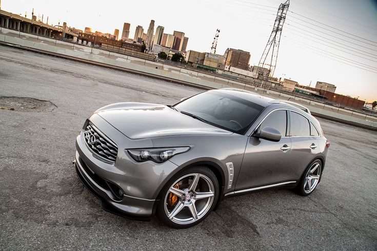 Infiniti FX35 with HRE TR45 in Brushed Tinted Clear (2 ...