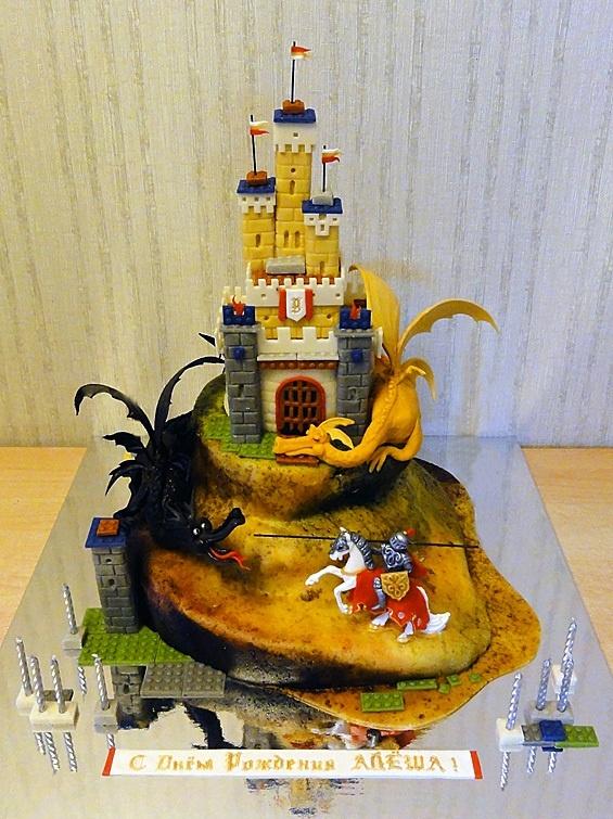 """Детский торт """"Лего. Замок и Драконы"""""""