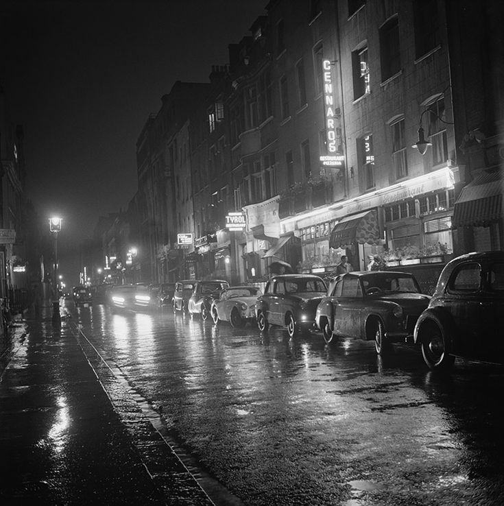 August 1955: A rainy night in SohoBIPS/Hulton Archive/Getty Images